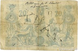 20 Francs type 1873 avec ALGER ALGÉRIE  1884 P.015x B+