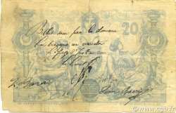 20 Francs ALGÉRIE  1884 P.015x TB