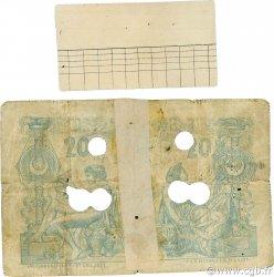 20 Francs type 1873 avec ALGER ALGÉRIE  1887 P.015x B+