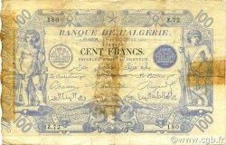 100 Francs ALGÉRIE  1892 P.018 TB