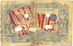 100 Francs type 1874 avec ALGER ALGÉRIE  1894 P.018 B