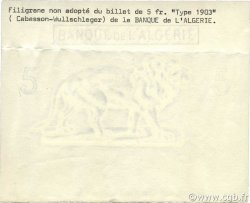 5 Francs ALGÉRIE  1903 P.071- SPL