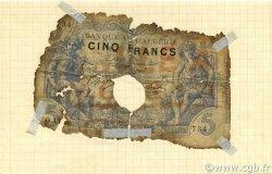5 Francs type 1873 ALGÉRIE  1909 P.071a AB