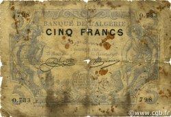 5 Francs type 1873 ALGÉRIE  1915 P.071a AB