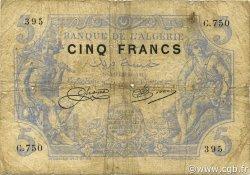 5 Francs ALGÉRIE  1915 P.071a B+