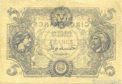 5 Francs type 1873 ALGÉRIE  1917 P.071b TTB+