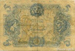 5 Francs type 1873 ALGÉRIE  1918 P.071bx pr.TTB