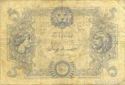 5 Francs type 1873 ALGÉRIE  1918 P.071b TB