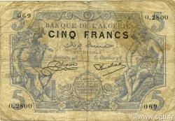 5 Francs type 1873 ALGÉRIE  1924 P.071b B+