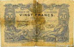 20 Francs type 1873 sans ALGER ALGÉRIE  1910 P.072 B