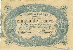 50 Francs type 1873 sans ALGER ALGÉRIE  1904 P.073x TB+
