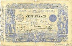 100 Francs type 1874 sans ALGER ALGÉRIE  1911 P.074 pr.TB
