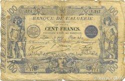 100 Francs ALGÉRIE  1911 P.074 B