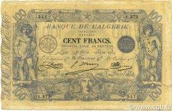100 Francs ALGÉRIE  1919 P.074 TB