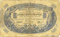 500 Francs ALGÉRIE  1918 P.075b B+