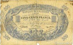500 Francs ALGÉRIE  1924 P.075b pr.B