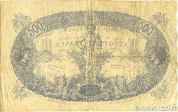 500 Francs type 1874 sans ALGER ALGÉRIE  1924 P.075b TB+