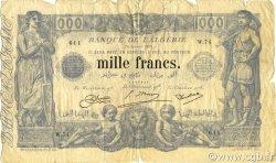 1000 Francs type 1875 ALGÉRIE  1924 P.076b TB