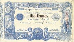 1000 Francs type 1875 ALGÉRIE  1940 P.076s SUP+