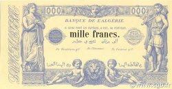 1000 Francs type 1875 ALGÉRIE  1909 P.076s pr.NEUF