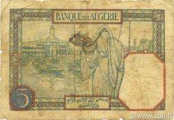 5 Francs type 1924 ALGÉRIE  1926 P.077a B