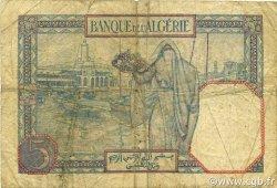 5 Francs type 1924 ALGÉRIE  1928 P.077a TB