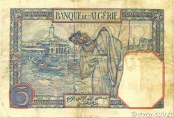 5 Francs type 1924 ALGÉRIE  1933 P.077a TTB