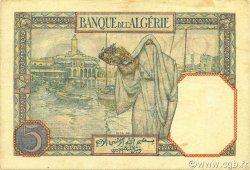 5 Francs type 1924 ALGÉRIE  1939 P.077a TTB