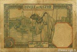 5 Francs ALGÉRIE  1941 P.077b TB