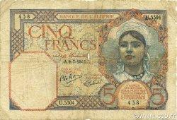 5 Francs ALGÉRIE  1941 P.077b B