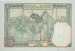 5 Francs type 1924 numérotation inversée ALGÉRIE  1941 P.077b SUP+