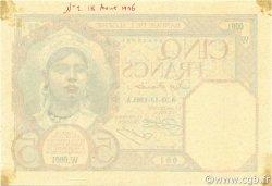 5 Francs ALGÉRIE  1926 P.077s SUP