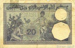 20 Francs type 1912 ALGÉRIE  1924 P.078b TB