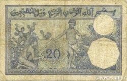 20 Francs ALGÉRIE  1929 P.078b pr.TB