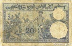 20 Francs type 1912 ALGÉRIE  1929 P.078b pr.TB