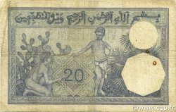 20 Francs type 1912 ALGÉRIE  1938 P.078c TB