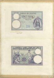 20 Francs type 1912 ALGÉRIE  1912 P.078s SUP