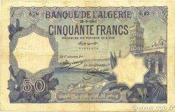50 Francs ALGÉRIE  1913 P.079 TB