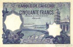 50 Francs type 1912 violet ALGÉRIE  1912 P.079s SPL