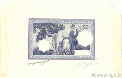 50 Francs type 1912 violet ALGÉRIE  1912 P.079s NEUF