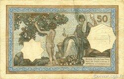 50 Francs type 1912 vert ALGÉRIE  1920 P.080a TB+