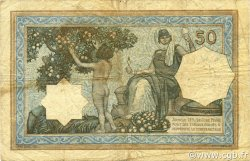 50 Francs type 1912 vert ALGÉRIE  1921 P.080a TB