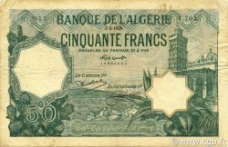 50 Francs ALGÉRIE  1928 P.080a pr.TTB
