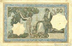 50 Francs type 1912 vert ALGÉRIE  1929 P.080a TB+