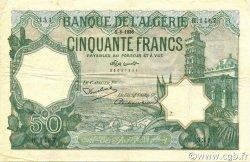 50 Francs type 1912 vert ALGÉRIE  1936 P.080a TTB