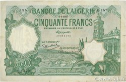 50 Francs ALGÉRIE  1937 P.080a pr.TTB
