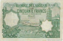 50 Francs type 1912 vert ALGÉRIE  1937 P.080a TTB