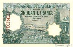 50 Francs ALGÉRIE  1928 P.080s pr.NEUF