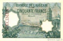 50 Francs type 1912 vert ALGÉRIE  1928 P.080s pr.NEUF
