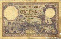 100 Francs type 1920 ALGÉRIE  1924 P.081a B+